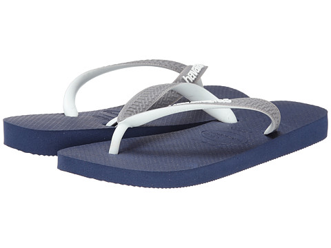 Havaianas - Top Mix Flip Flops (Navy Blue/Grey/White) Women