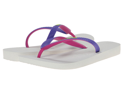 Havaianas - Top Mix Flip Flops (White/Purple) Women's Sandals