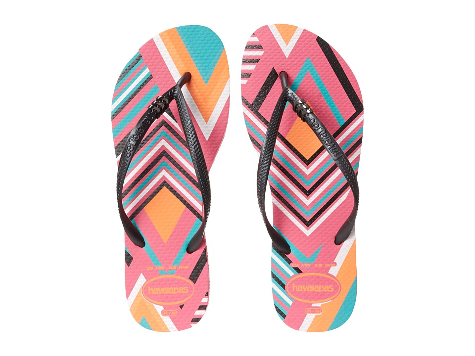 Havaianas - Slim Tribal Flip Flops (Shocking Pink) Women's Sandals