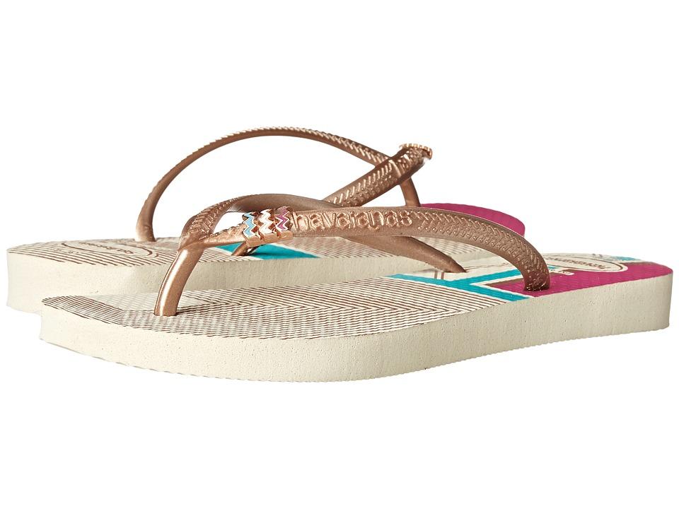 Havaianas Slim Tribal Flip Flops (Beige 1) Women