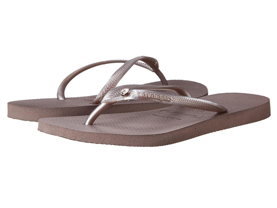 Havaianas - Slim Crystal Glamour SW Flip Flops (Fog) Women's Sandals