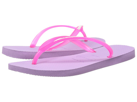 Havaianas - Slim Logo Pop-Up Flip Flops (Soft Lilac) Women's Sandals