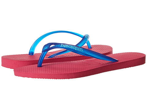 Havaianas - Slim Logo Pop-Up Flip Flops (Orchid Rose) Women