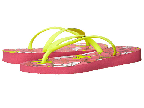 Havaianas - Slim Cool Flip Flops (Shocking Pink) Women