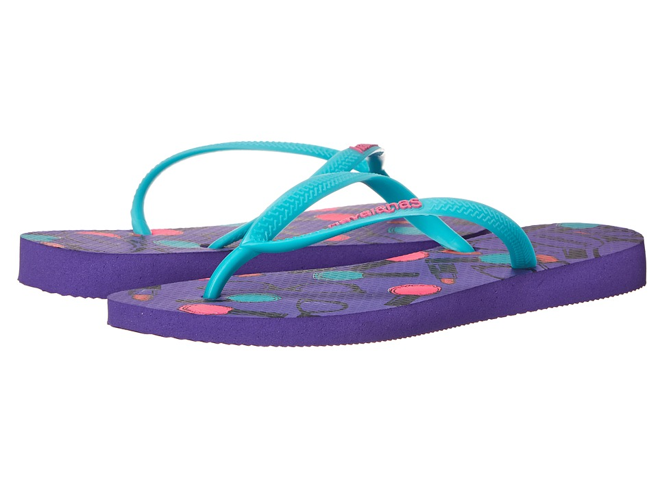 Havaianas - Slim Cool Flip Flops (Purple) Women's Sandals