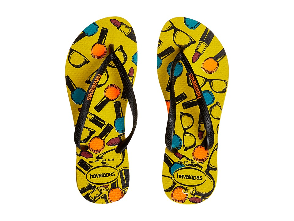 Havaianas - Slim Cool Flip Flops (Citrus Yellow) Women
