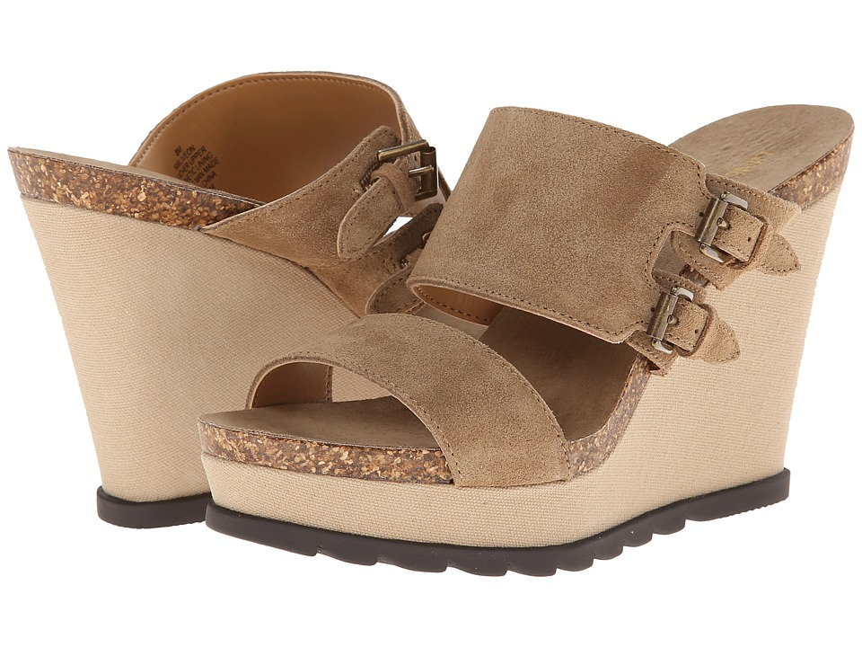 Nine West - Liveon (Taupe Suede) Women's Wedge Shoes