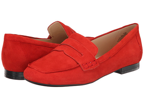 Nine West - Linear (Red Suede) Women's Slip on Shoes