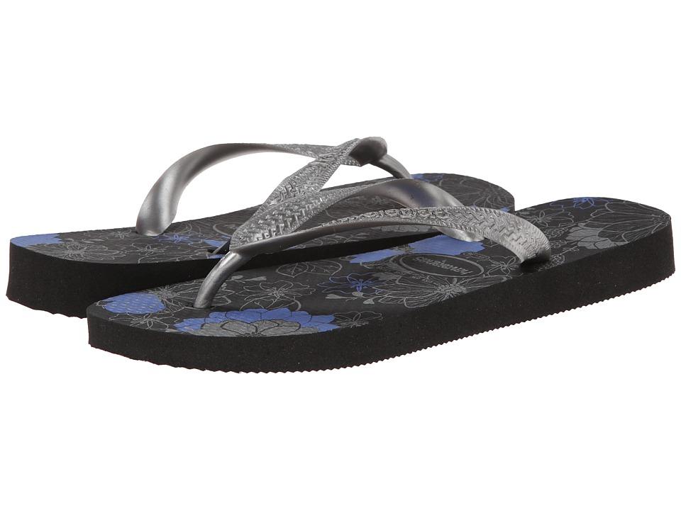 Havaianas - Spring Flip Flops (Black/Silver/Blue) Women's Sandals