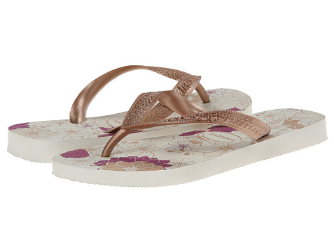 Havaianas - Spring Flip Flops (White/Rose Gold) Women's Sandals