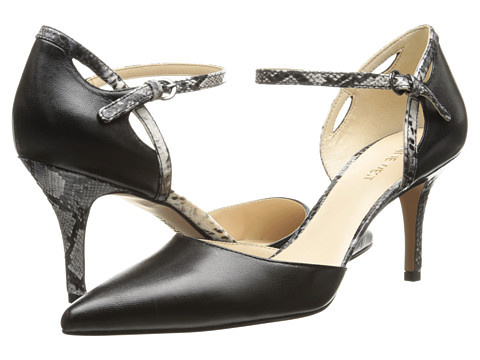 Nine West - Kramer (Black/Black/White Leather) High Heels