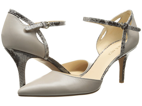 Nine West - Kramer (Light Grey/Grey Multi Leather) High Heels