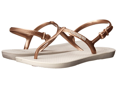 Havaianas - Freedom Flip Flops (Beige) Women's Sandals