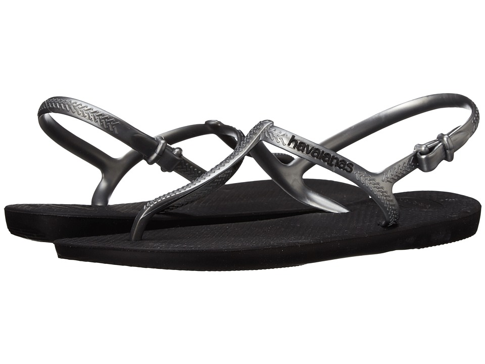 Havaianas - Freedom Flip Flops (Black/Graphite) Women's Sandals