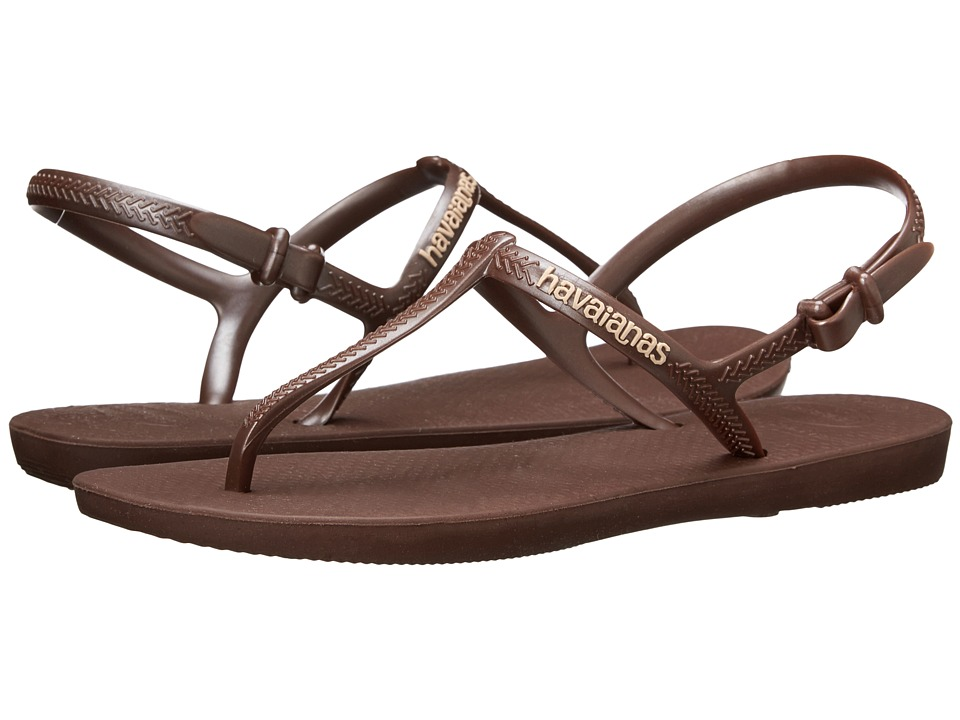 Havaianas - Freedom Flip Flops (Dark Brown/Dark Brown) Women's Sandals