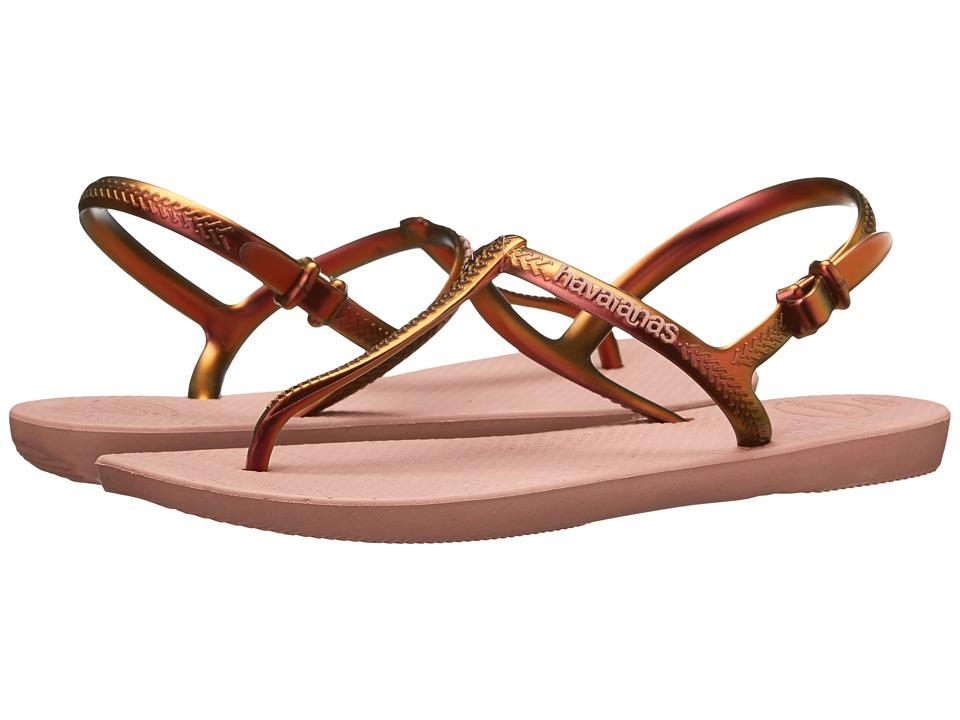 Havaianas Freedom Flip Flops (Crocus Rose) Women