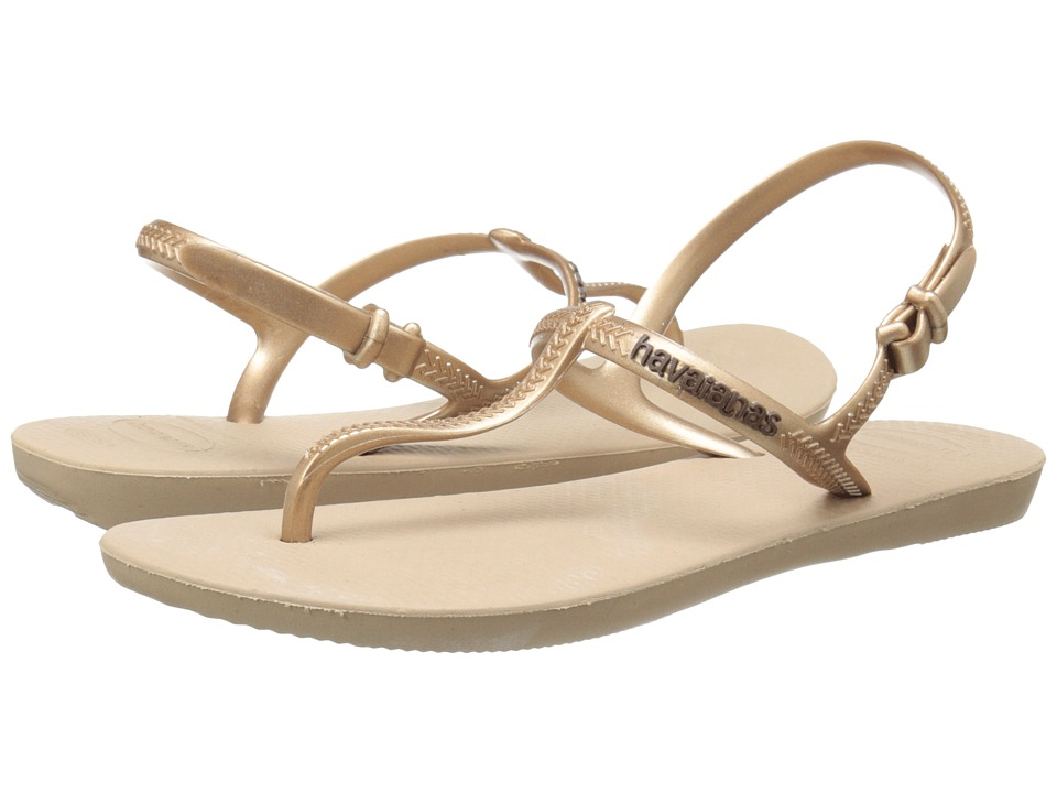 Havaianas Freedom Flip Flops (Rose Gold) Women