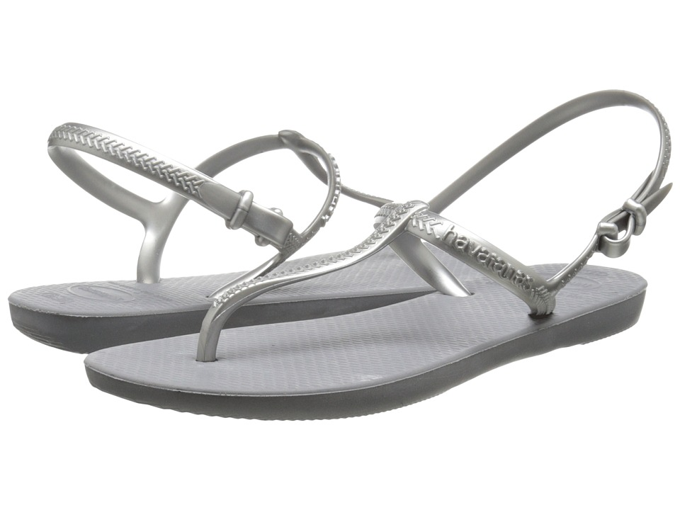 Havaianas - Freedom Flip Flops (Steel Grey) Women's Sandals