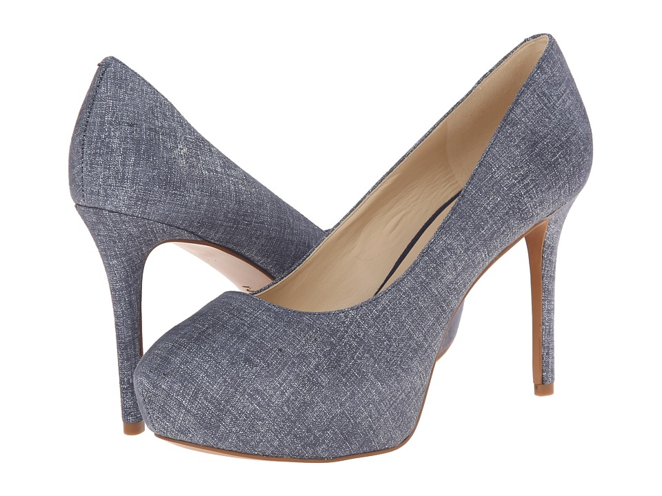 Nine West - Juliette (Blue Leather) High Heels
