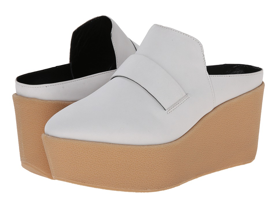 Derek Lam Elwyn White Soft Nubuck Womens Wedge Shoes