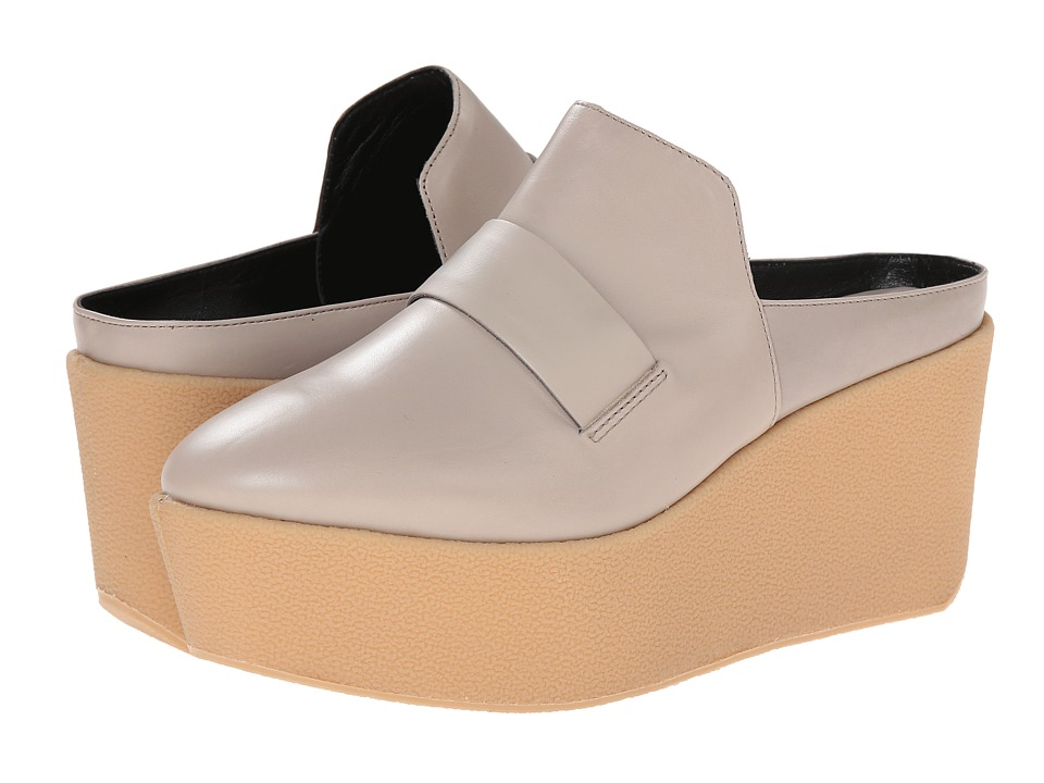 Derek Lam Elwyn Grey Baby Calf Womens Wedge Shoes