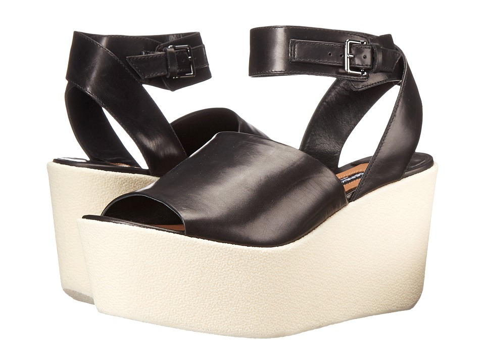 Derek Lam Fabian Black Baby Calf Womens Wedge Shoes
