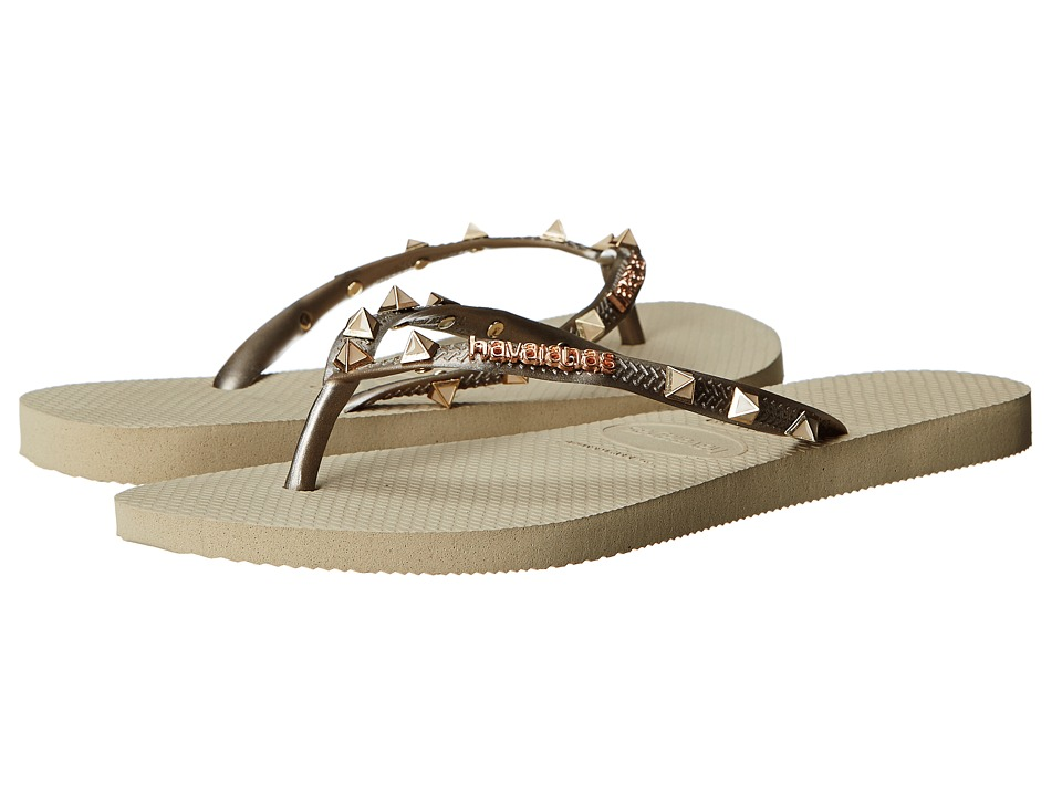 Havaianas - Slim Hardware Flip Flops (Sand Grey) Women's Sandals