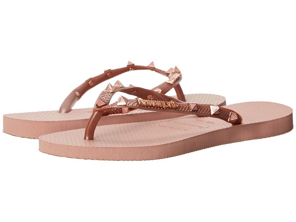Havaianas Slim Hardware Flip Flops (Crocus Rose) Women