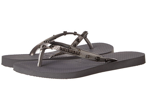 Havaianas - Slim Hardware Flip Flops (Steel Grey) Women