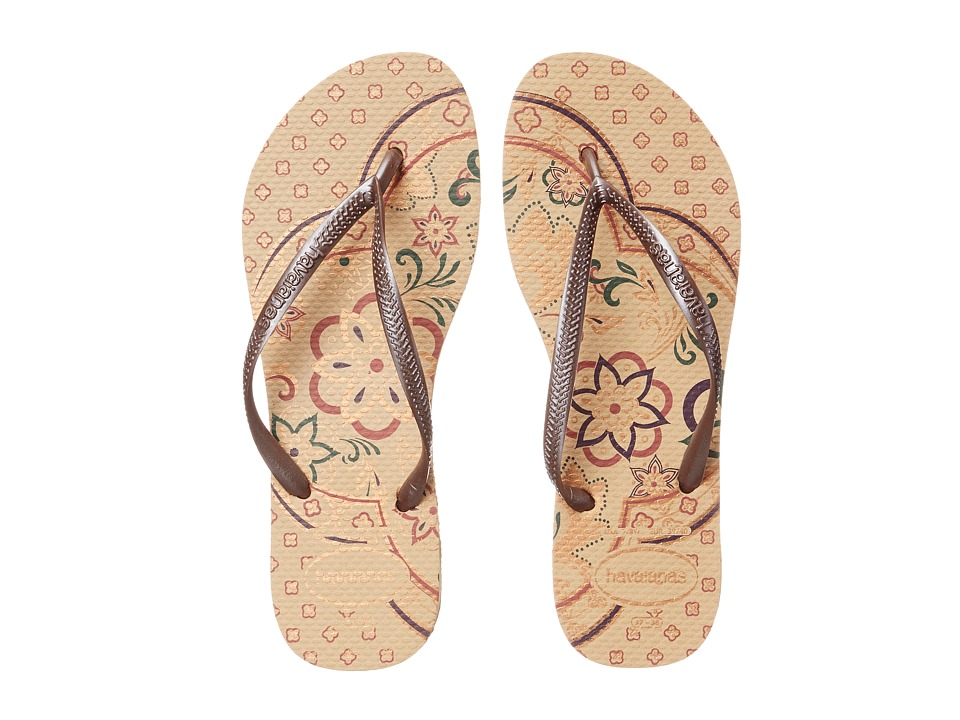 Havaianas - Slim Thematic Flip Flops (Beige) Women