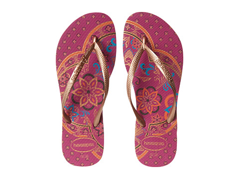 Havaianas - Slim Thematic Flip Flops (Rose Gum) Women