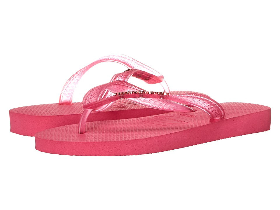 Havaianas - Top Logo Metallic Flip Flops (Orchid Rose) Women