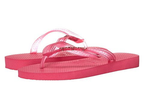 Havaianas - Top Logo Metallic Flip Flops (Orchid Rose) Women's Sandals
