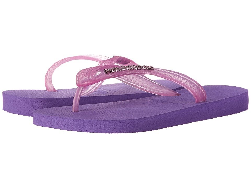 Havaianas - Top Logo Metallic Flip Flops (Dark Purple) Women's Sandals