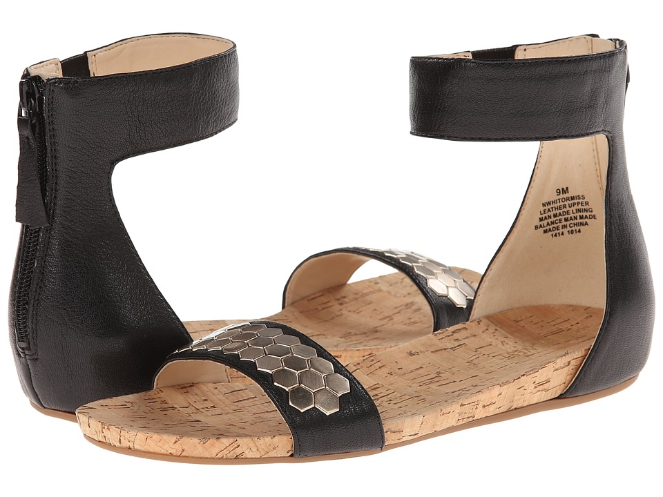 Nine West - Hitormiss (Black Leather) Women's Sandals