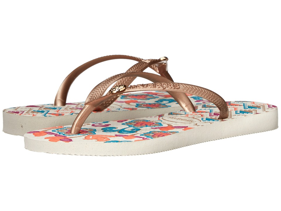 Havaianas - Slim Royal Flip Flops (White) Women's Sandals