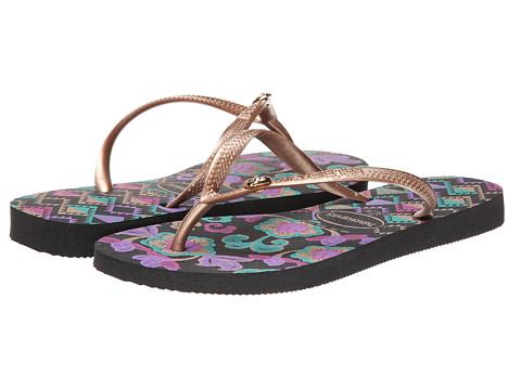 Havaianas - Slim Royal Flip Flops (Black) Women's Sandals
