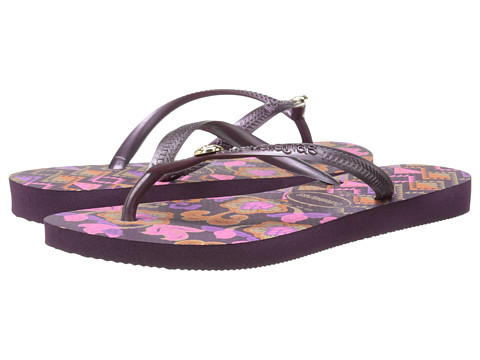 Havaianas - Slim Royal Flip Flops (Aubergine/Aubergine) Women