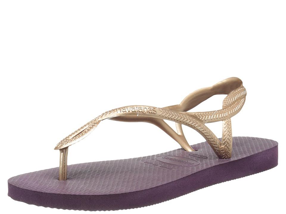 Havaianas - Luna Flip Flops (Aubergine) Women's Sandals