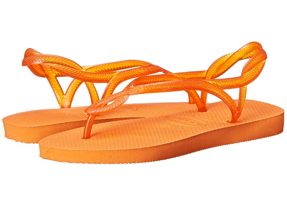 Havaianas - Luna Flip Flops (Neon Orange) Women's Sandals