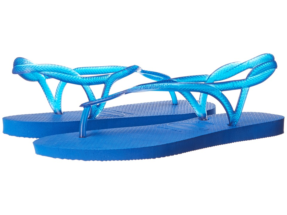 Havaianas - Luna Flip Flops (Blue Star) Women's Sandals