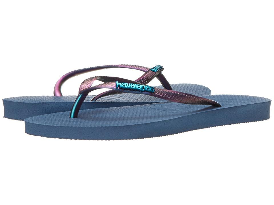 Havaianas - Slim Furta Cor Flip Flops (Indigo Blue) Women's Sandals