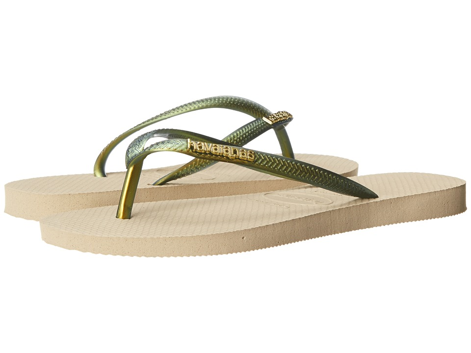 Havaianas - Slim Furta Cor Flip Flops (Sand Grey) Women's Sandals