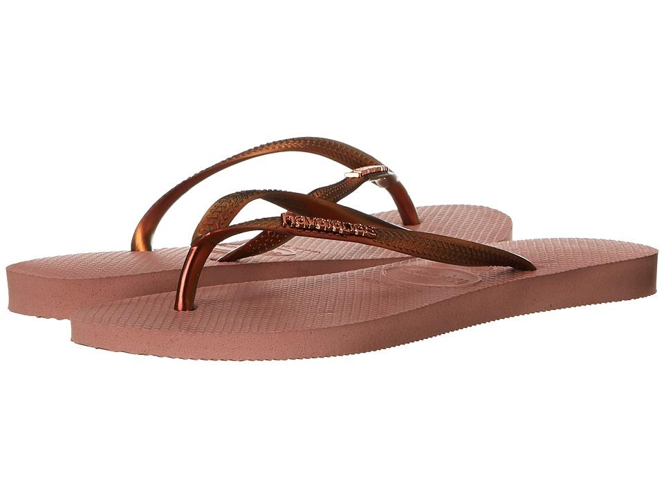 Havaianas - Slim Furta Cor Flip Flops (Crocus Rose) Women