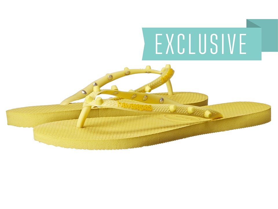 Havaianas - Slim Candy Flip Flops (Revival Yellow) Women's Sandals