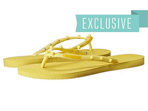 Havaianas - Slim Candy Flip Flops (Revival Yellow) Women's Sandals
