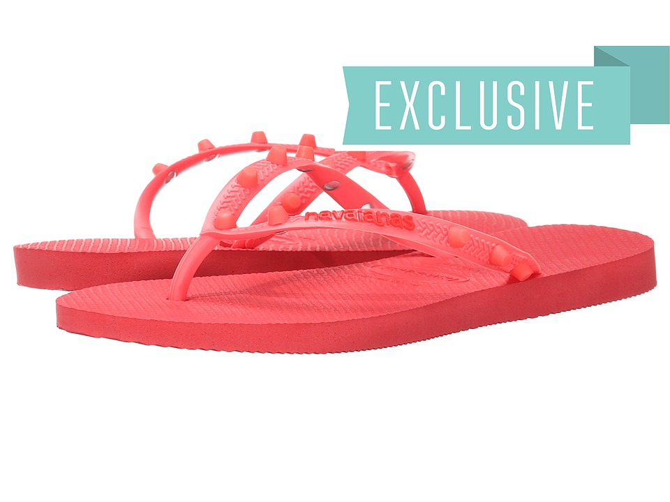Havaianas - Slim Candy Flip Flops (Coralnew) Women's Sandals