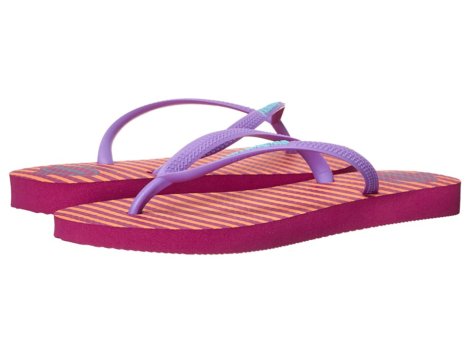 Havaianas - Slim Retro Flip Flops (Rose Gum) Women's Sandals