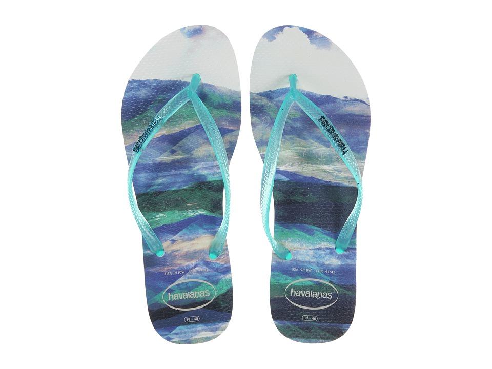 Havaianas - Slim Paisage Flip Flops (White) Women