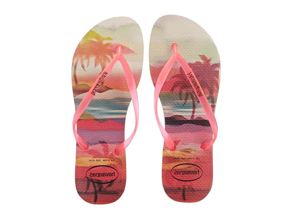 Havaianas - Slim Paisage Flip Flops (Beige) Women's Sandals
